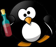 Betrunkener Pinguin