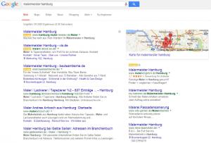 Auszug der SERPs in der lokalen Google-Suche