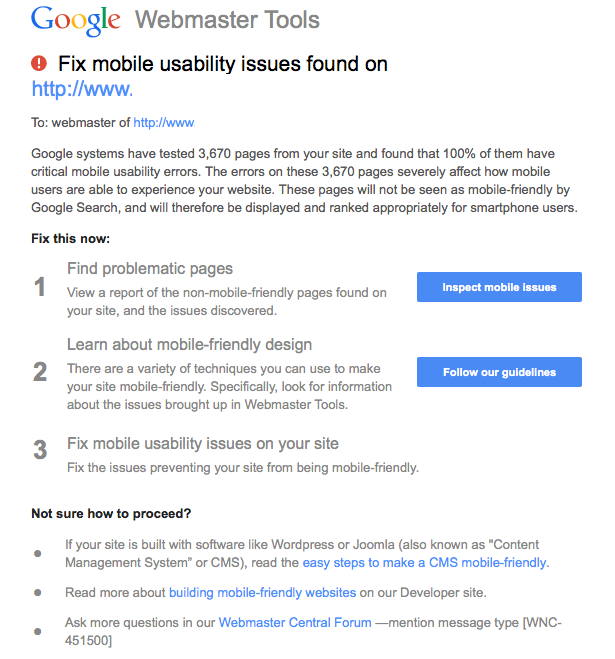 google-mobile-seo-errors