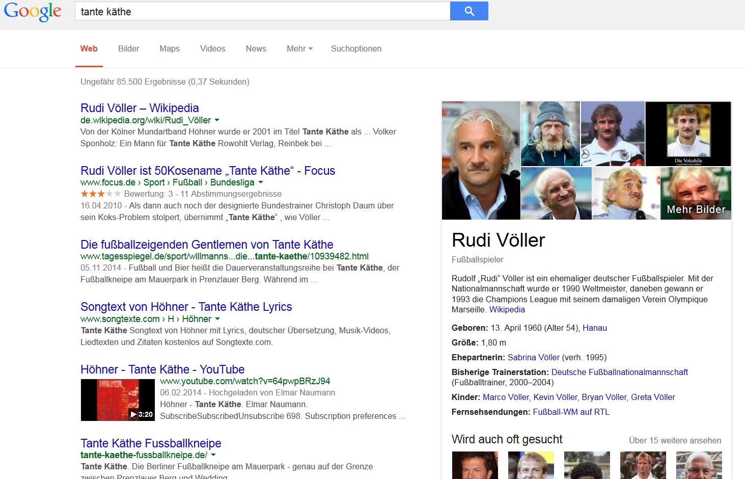 Beispiel Knowledge Graph Rudi Völler
