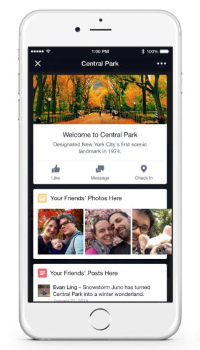 Facebook Place Tips Beispiel