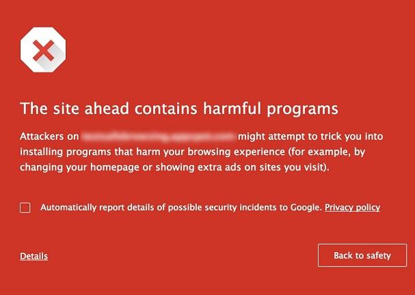 Google Safe Browsing Warnung