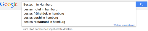 Screenshot Googe Suggest Platzhalter