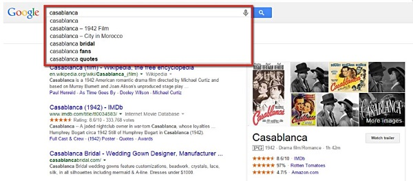 Screenshot SEOlytics Knowledge Graph Casablanca
