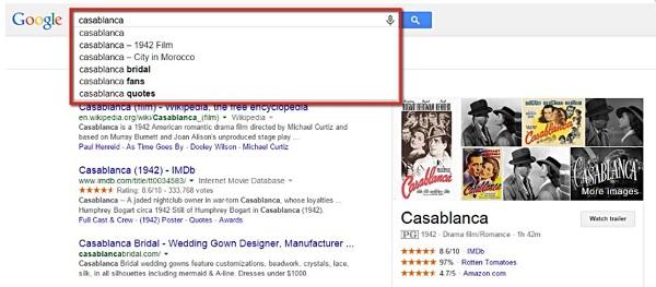 Screenshot SEOlytics Knowledge Graph Casablanca