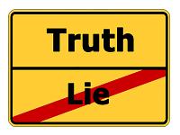 Symbol Wahrheit Lüge