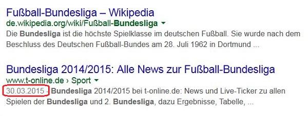 Bundesliga Query Screenshot