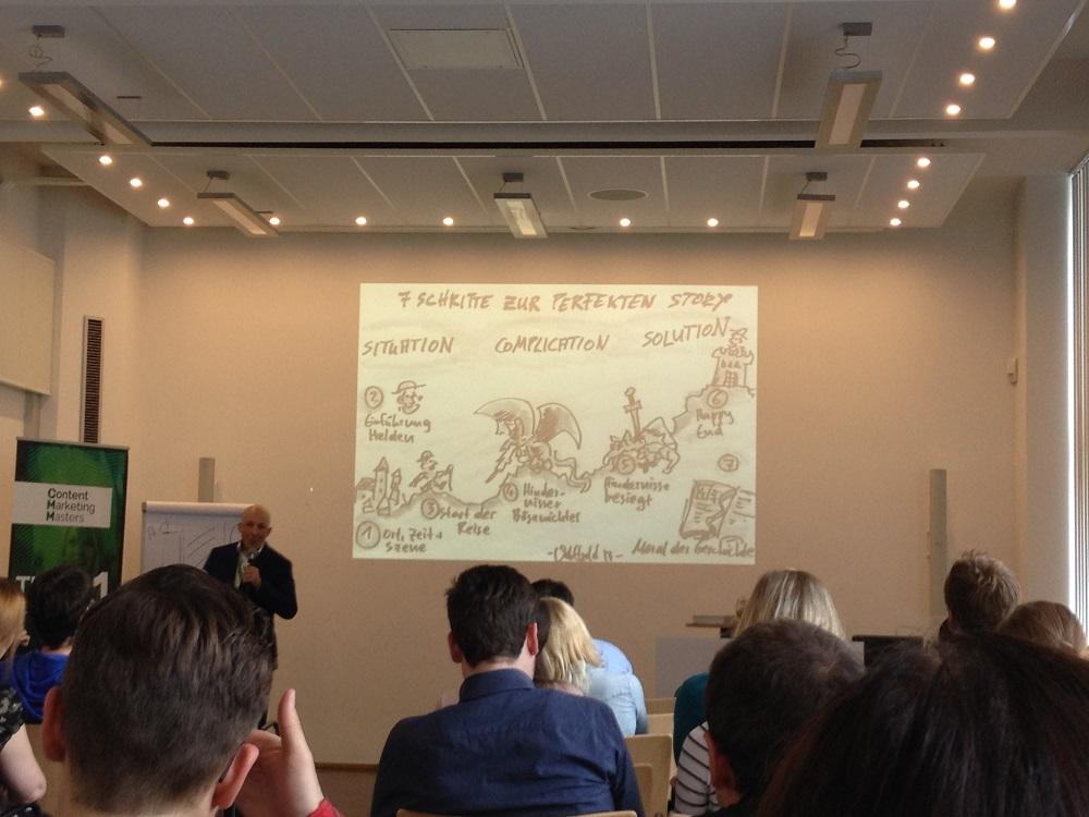 """Veit Etzold und sein Vortrag zum """"Digital Storytelling"""" auf der Content Marketing Masters 2015"""