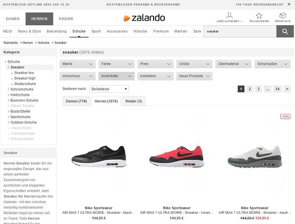 zalando-suche