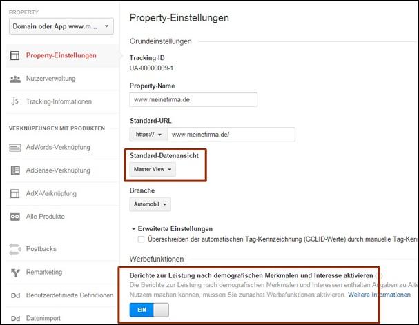 google-analytics-einstellungen-ranking-check.de