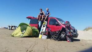 Bus Kitesurf Strand
