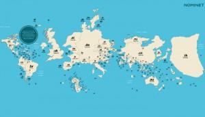 Karte nach TLD