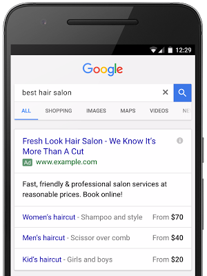 Price Extensions - Adwords
