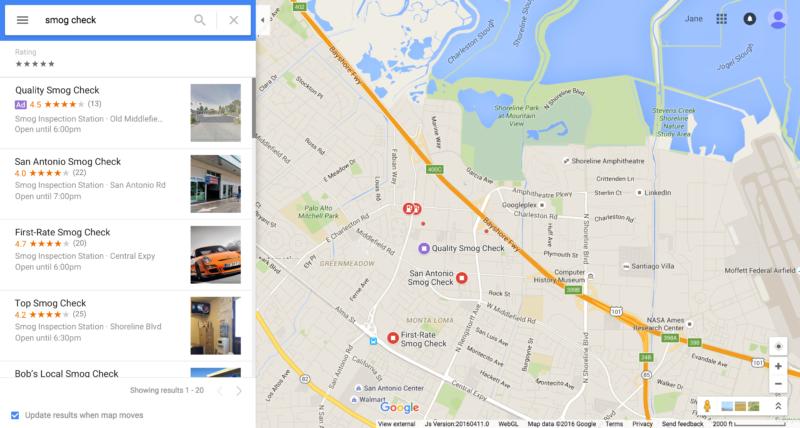 google maps anzeigen ads
