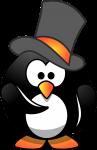 Pinguin mit Hut