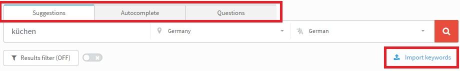 keyword finder funktionen