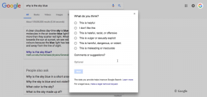feedback funktion featured snippet