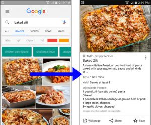 Rezept und Videos in der Google Bildersuche