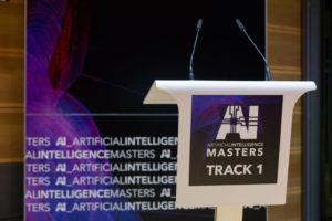 Rednerpult bei der AI Masters