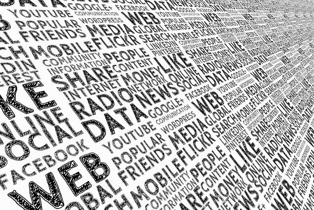 Begriffe zum Thema Daten als fortlaufende Tafel angeordnet