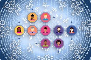 Grafik von vernetzten Personen