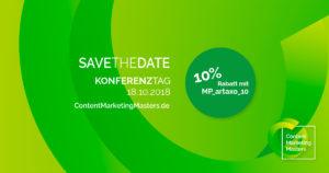 Bild zum Save-The-Date-Artikel der Content Marketing Masters 2018