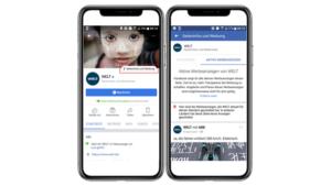 Beispiel für neun Tab in Facebook für geschaltete Werbung