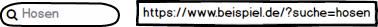 Beispiel für Suche mit Parameterlink