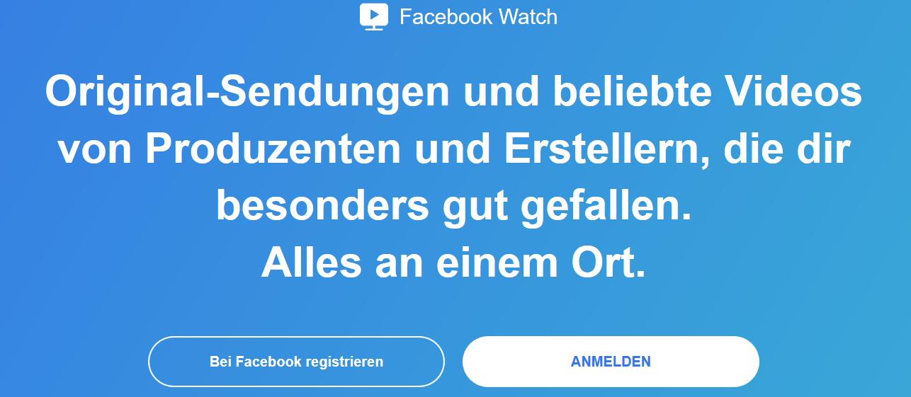 Screenshot von Facebook Watch