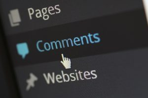 Cursor klickt auf Comments in CMS