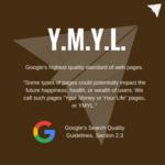 Erklärung, was YMYL bedeutet.