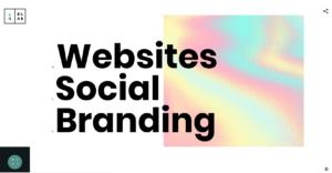 Die Webseite von blab.studio mit Hamburger-Menü-Icon.
