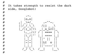 Star Wars Bild in der robots.txt von Sistrix