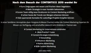 Was Euch die Contentixx 2019 zu bieten hat!
