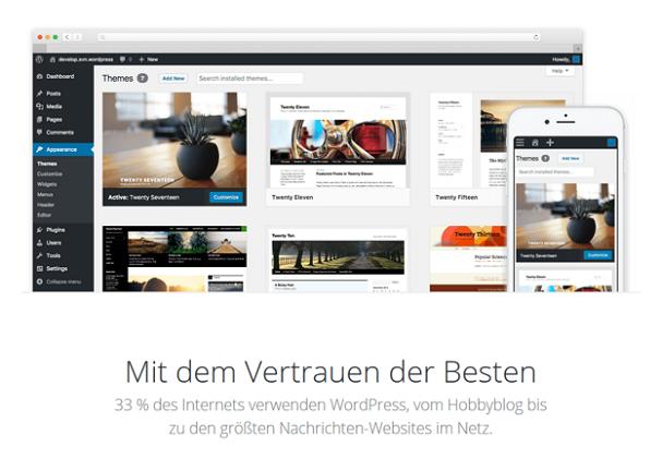 33 % der Internetseiten basieren auf WordPress
