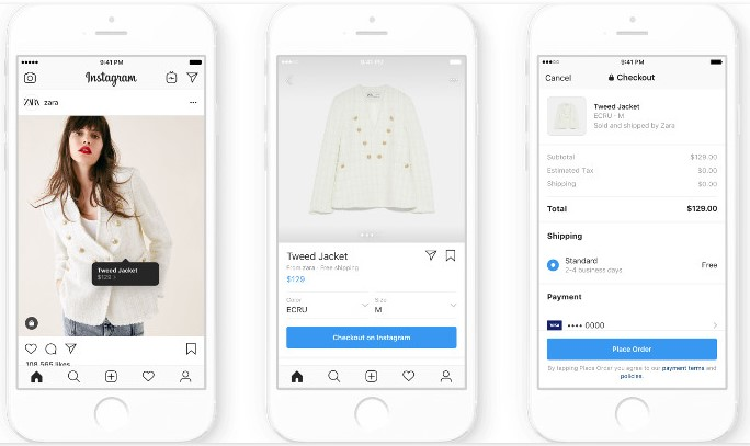 Die In-App Checkout bei Instagram wird aktuell in den USA getestet und soll die Conversion-Rate anheben.