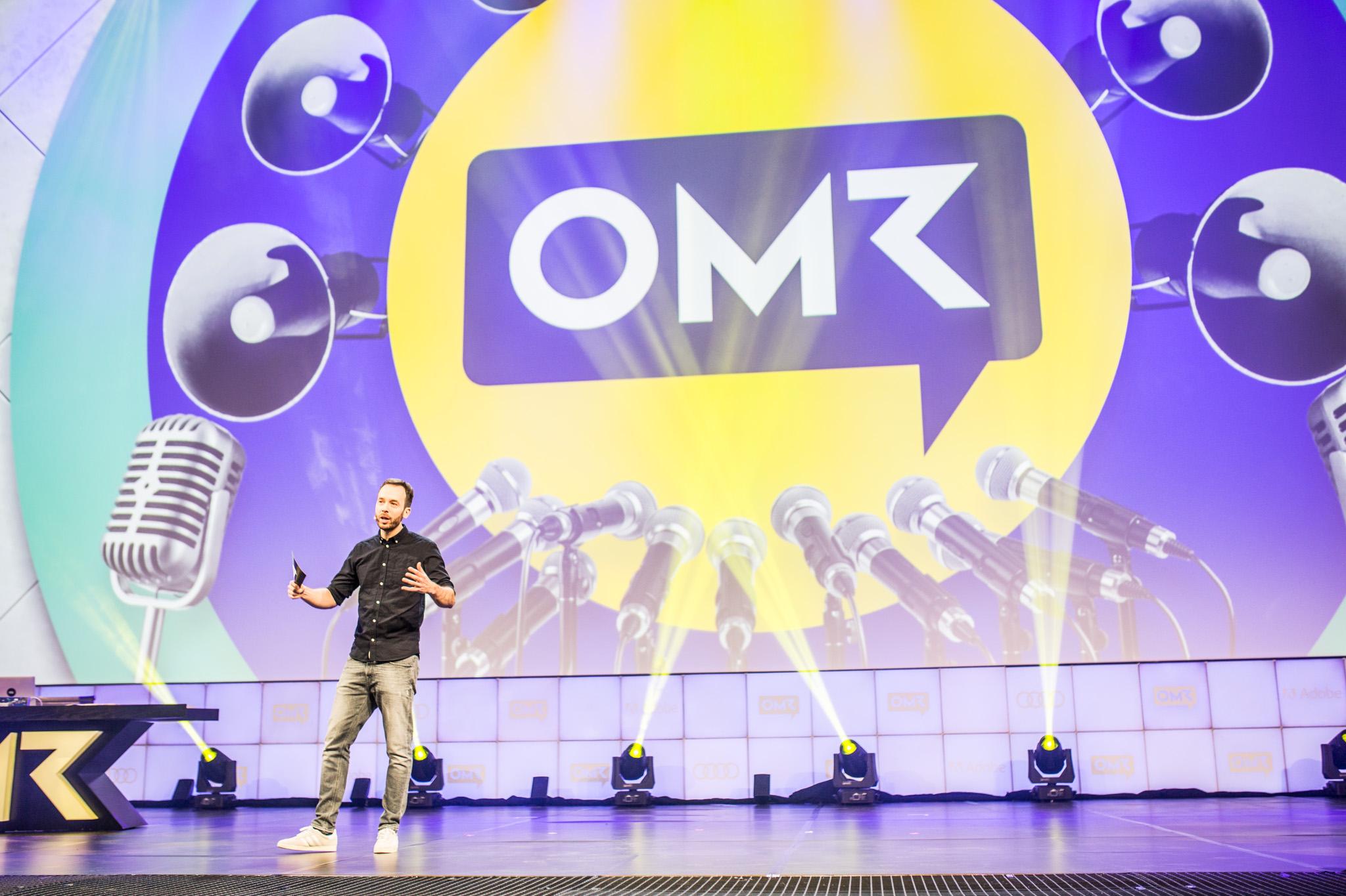 Philipp Westermeyer auf der OMR-Bühne 2018.