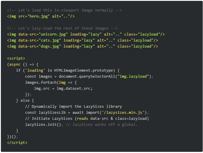 Beispiel, wie Ihr die Elemente browserübergreifend auszeichnen solltet. © Addy Osmani