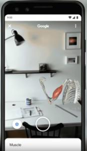 Beispiel wie ein 3D-Bild mit Hilfe von Augmented Reality in die Umgebung integriert werden kann.