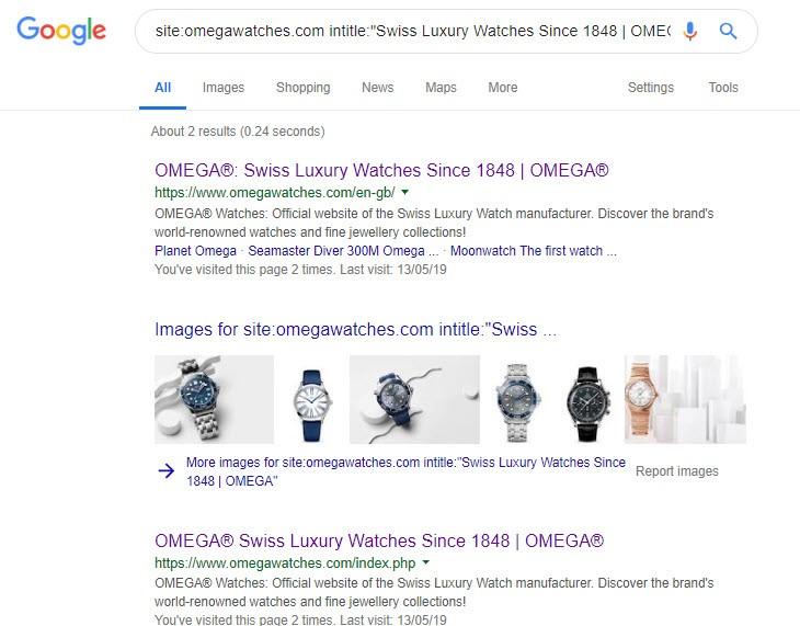 Mit diesen Suchoperatoren findet Ihr heraus, wie viel Seiten mit identischen Title indexiert wurden.