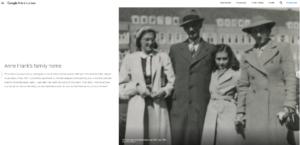 Bild der Anne Frank-Familie aus der Bilderreihe von Google Arts & Culture.