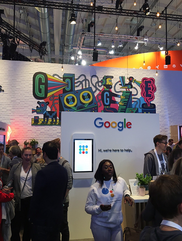 Der Google-Expo-Stand bei der OMR