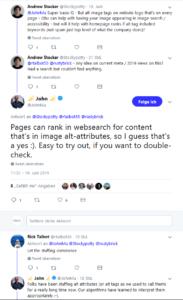 John Mueller bestätigt die Wichtigkeit des ALT-Tags.