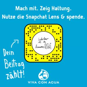 Snapchat-Code zur Unterstützung von Viva Con Aqua.