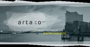 Banner der artaxo GmbH.