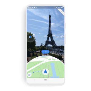 Die neue Live-View-Funktion von Google Maps.