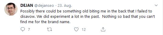 Petrovic bestätigt über Twitter, dass mit dejan.com.au Link-Experimente gemacht wurden. Diese liegen aber schon mehrere Jahre zurück.