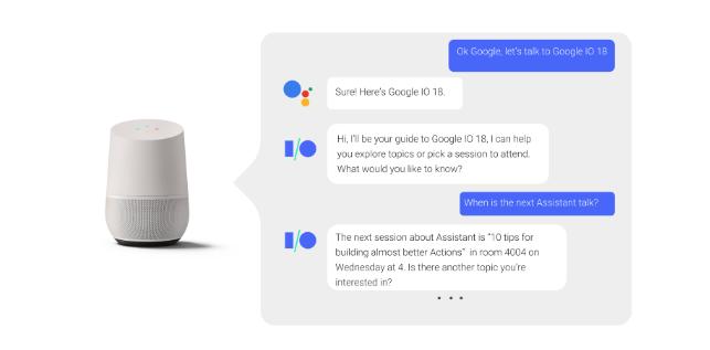 Google Assistant Konversation