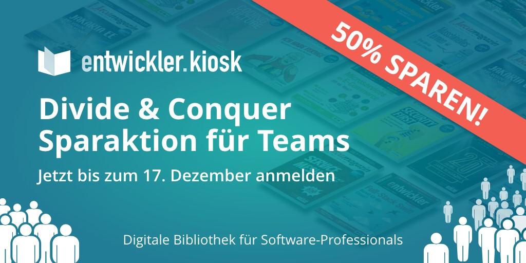 50%-Rabatt für entwickler.kiosk