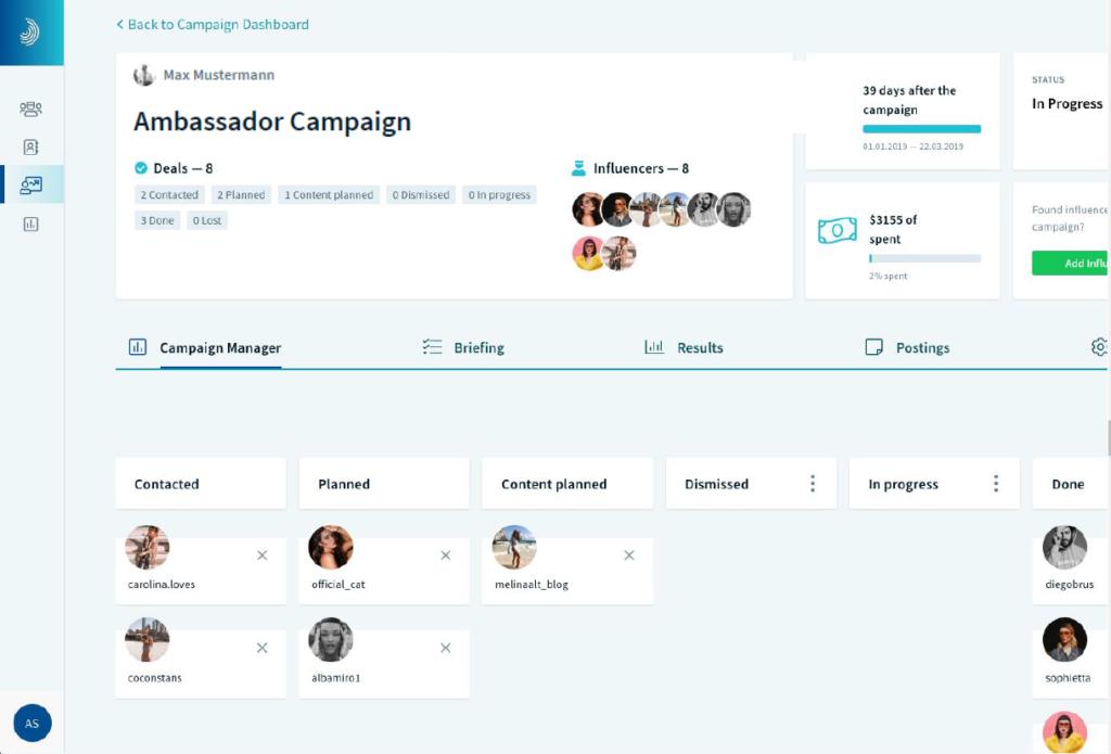 InfluencerDB Campaigns